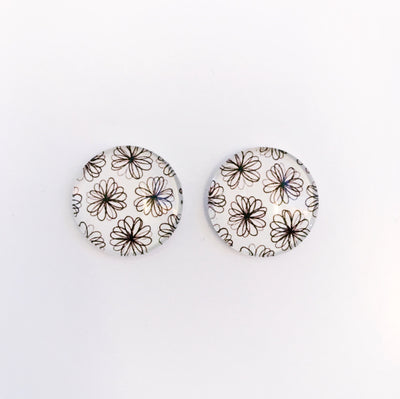 The 'Flower Girl' Glass Earring Studs