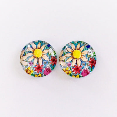 The 'Margaret' Glass Earring Studs