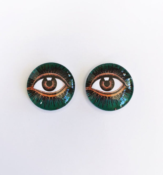 The 'Third Eye' Glass Earring Studs