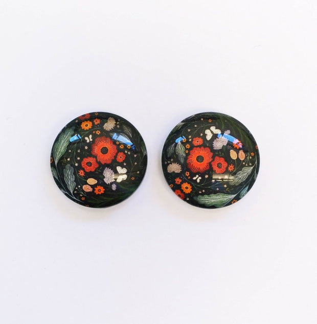 The 'Zoe' Glass Earring Studs