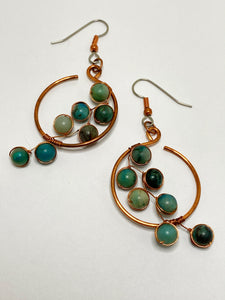 Chrysocolla Blossom Earrings