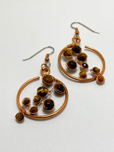 Yellow Tiger Eye Blossom Earrings