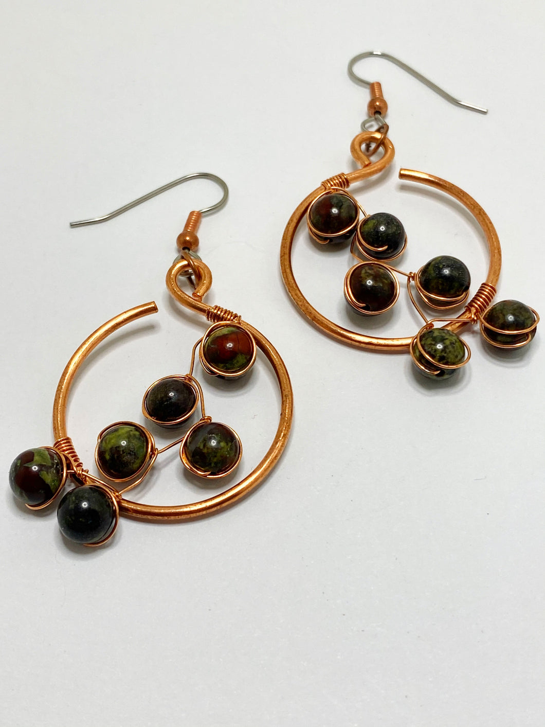 Dragon Blood Jasper Blossom Earrings