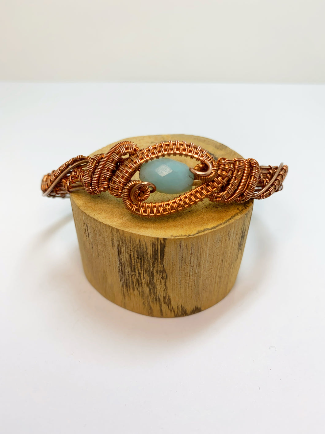 Amazonite Wire Wrapped Bangle