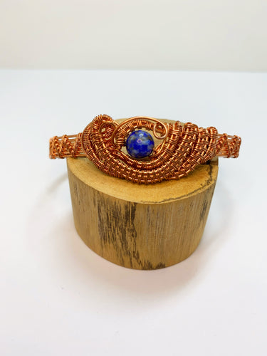 Lapis Lazuli Wire Wrapped Bangle