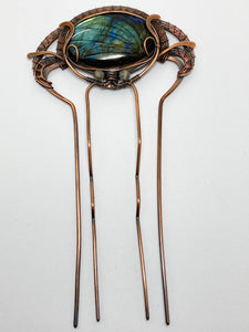 Labradorite Hair Piece