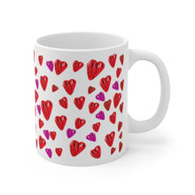Load image into Gallery viewer, Heart Splash Mug 11oz