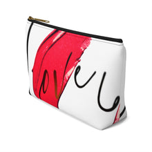 Load image into Gallery viewer, Love Accessory Pouch w T-bottom