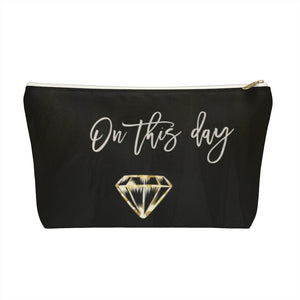 Bride Bridesmaid Engaged Gift Accessory Pouch w T-bottom