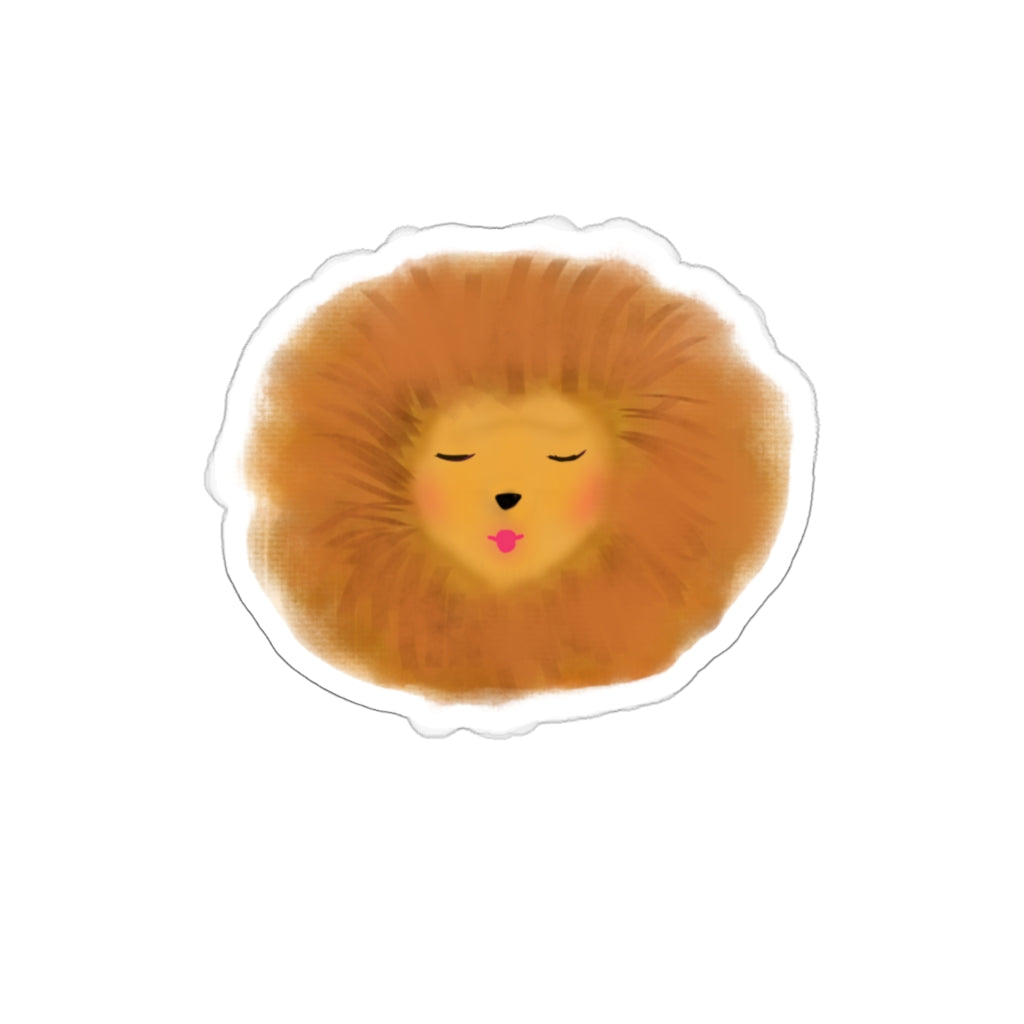 Lion with red lips Decal Sticker