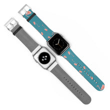 Load image into Gallery viewer, Pink Flamingo Print Apple Watch Band 38mm 42mm