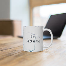 Load image into Gallery viewer, Try Again Faux Marble Mug