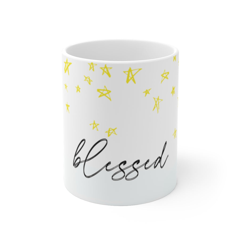 Blessed with stars ceramic mug