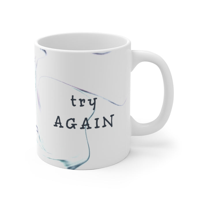 Try Again Faux Marble Mug
