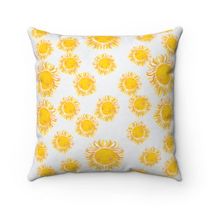 Sunshine Blast Square Pillow