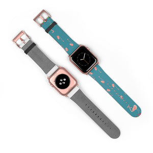 Pink Flamingo Print Apple Watch Band 38mm 42mm