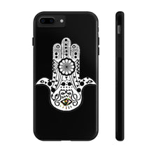 Load image into Gallery viewer, Hasma | House of Fatima) Mystery Black Phone Case