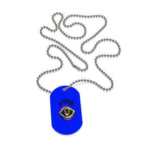 Third eye  with crown Dog Tag