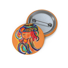 Load image into Gallery viewer, Thoughts Handpainted  Pin Button
