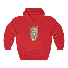 Load image into Gallery viewer, Crown Multi Colored Hooded Sweatshirt