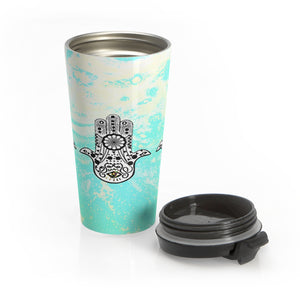 Hasma | House of Fatima) Stainless Steel Travel Mug