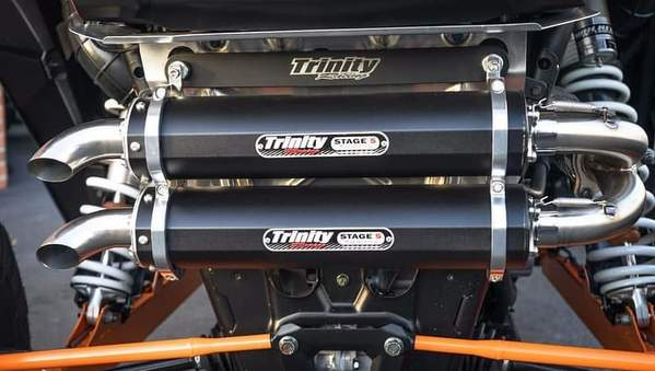 Trinity Racing 2016-2020 RZR XP Turbo/ Turbo S Full Dual Exhaust System