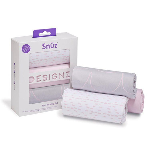 Snuz 3pc. Bedside Crib Bedding Set