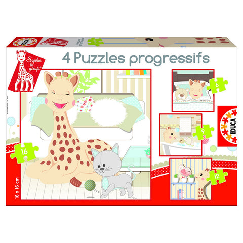 Sophie the Giraffe Progressive Puzzles