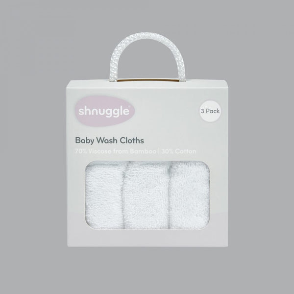 Shnuggle Wash Cloths 3pk