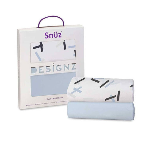 Snuz Bedside Crib - 2 Pack Fitted Sheets