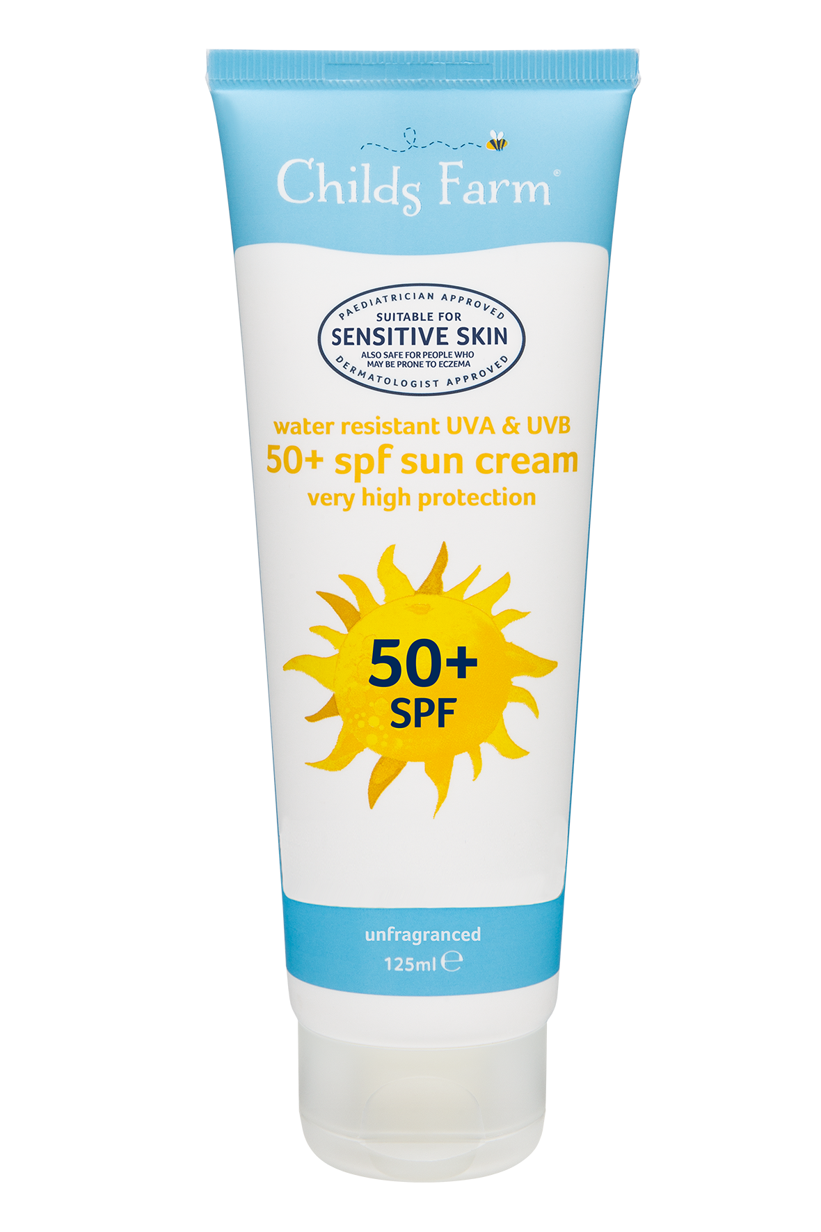 Childs Farm Sun Cream 50+ SPF Unfragranced 125ml