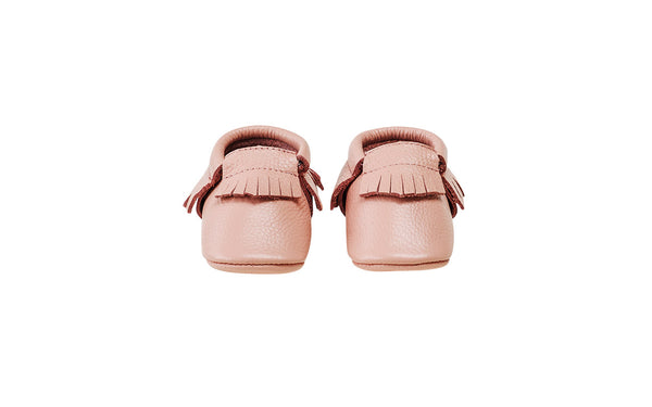 Moccstar - Leather Tassel Crib Shoe - Brown