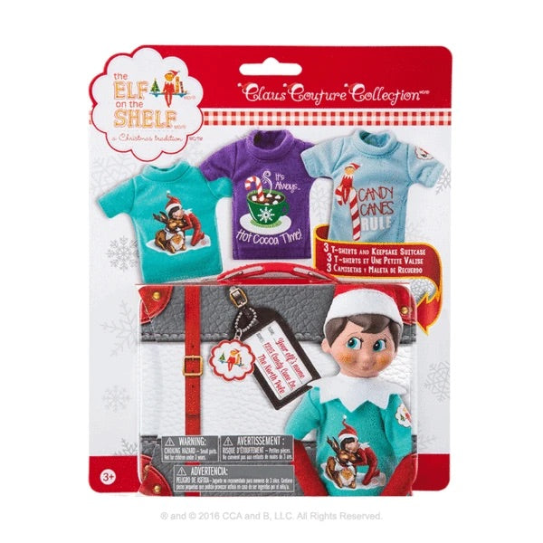 Elf Claus Couture Collection 3 T-shirts and Keepsake Tin
