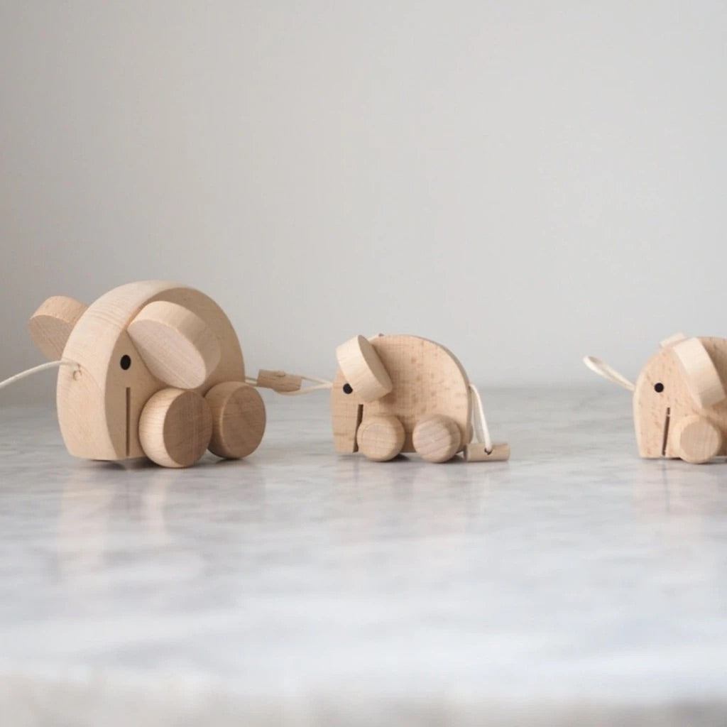 Mabel - Set of Wooden Elephants