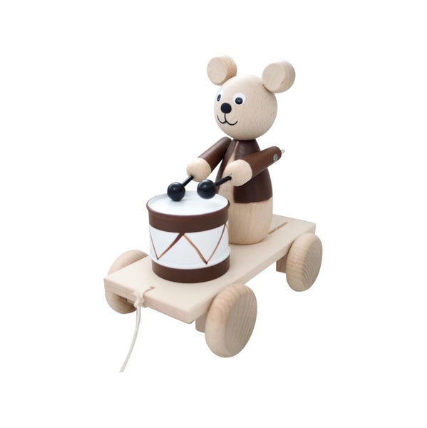 Cuthbert - Pull Along Brown Bear with Drum