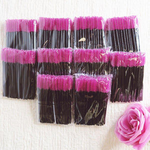 (500) Mascara Wands - Hot Pink