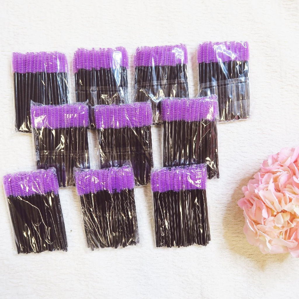 (500) Mascara Wands - Purple