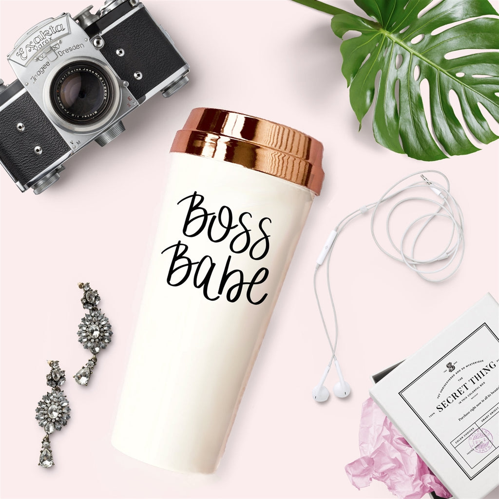 Travel Mug - Boss Babe-All Products-LASHtini