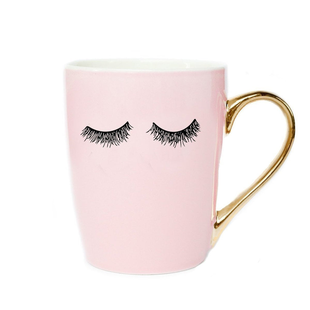 Coffee Mug - Pink w/Lashes-All Products-LASHtini