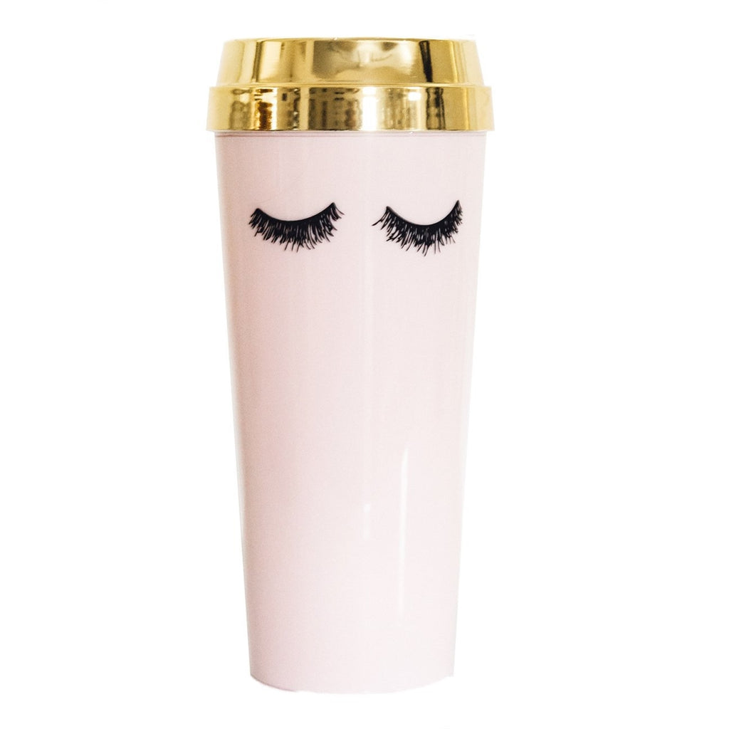 Travel Mug - Pink w/Lashes-All Products-LASHtini