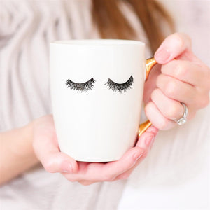 Coffee Mug - White w/Lashes-All Products-LASHtini