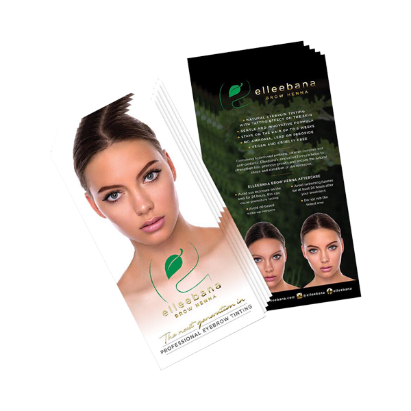 Elleebana Brow Henna Aftercare Flyers ( 100 Ct )-Aftercare-LASHtini