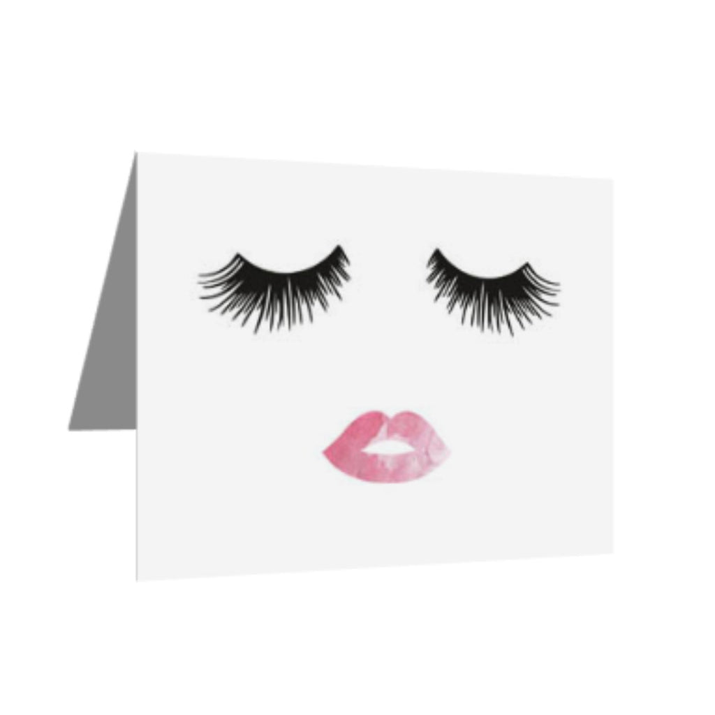 (10) Greeting Cards - Lashes & Lips-All Products-LASHtini