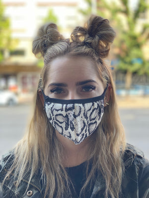 Washable & Reusable Mask - Snakeskin