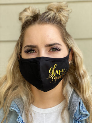 Washable & Reusable Mask - Glam Squad (gold foil)