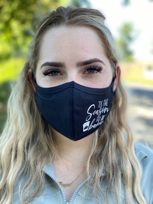 Washable & Reusable Mask - Tis The Season To Be Basic