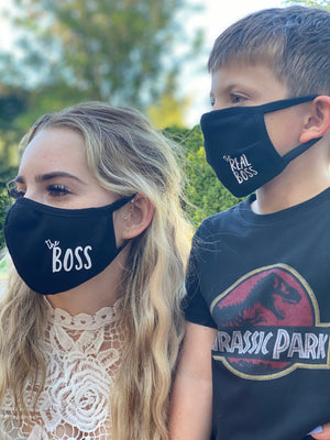 2 Pack Masks - Mommy & Me Boss/Real Boss