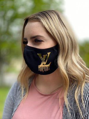 Mask - LV Drip (gold)