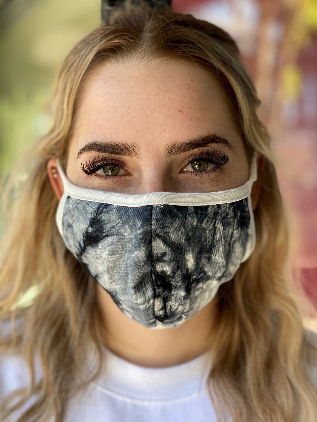 Mask - Tie Dye (black & white)