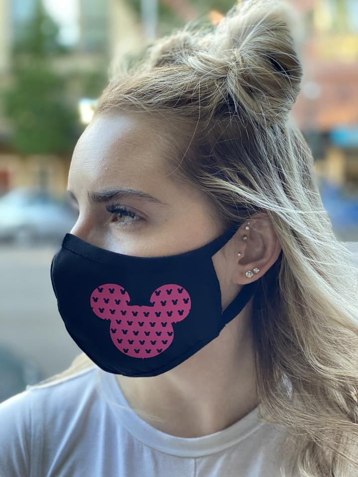 Washable & Reusable Mask - Disney Mickey Mouse (pink)